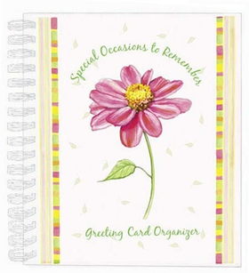 DISCONTINUED<br><br><P>BEST SELLING GIFT IDEA!</P> <P>Our &quot;SPECIAL OCCASIONS TO REMEMBER&quot; Greeting Card Organizer is one of our most requested products. It contains 12 monthly pocket pages with the days of each month and 6 &quot;notes&quot; pages.  Gift boxed with 10 best selling assorted notecards.  Card organizer is 7 1/2&quot; x 9&quot;.</P><p>Notecards are each 4 1/4&quot; x 5 1/2&quot; and feature original art and simply stated messages, printed on premium, textured card stock. Perfect to keep on hand for just about any occasion.</p><p>Ships direct from manufacturer in Minneapolis, MN.</p><br>